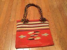1930s Vintage Chimayo Large Purse Bag Fred Harvey Talon Ball Chain Zipper RARE!