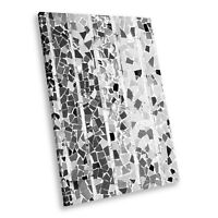 AB1383 Funky Black White Abstract Portrait Canvas Picture Prints Small Wall Art