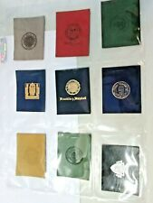 Tobacco Lot Of Nine College Pennants Leather Assorted #F3