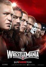 "Wrestlemania 31 Poster WWE Wrestling (12""x18"") NXT WCW AEW ROMAN REIGNS LESNAR"