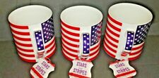 3 ~ STARS AND STRIPES COFFEE MUGS ~ HOME ESSENTIALS ~ FREE SHIPPING