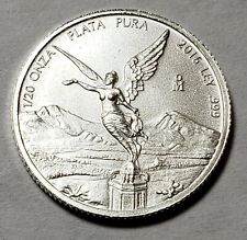 2016 Mexico Mexican Libertad 1/20 Onza Ounce Oz. Silver Low Mintage 22,900