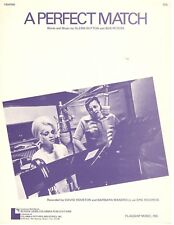 "DAVID HOUSTON/BARBARA MANDRELL ""A PERFECT MATCH"" SHEET MUSIC-1972-RARE-BRAND NEW"