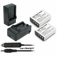 2 Battery for Ordro HDV-D370 NP-170 CB-170 HDV-D325 084-07042L-062 +Charger