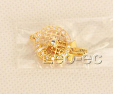 1 row yellow 15mm filled gold Jewelry Design Clasp W1098A32E4