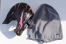 Woman's Fox Racing Tracker Pro Helmet Pink/BLK SZ L