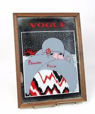"Vintage Early February "" VOGUE "" Beauty Makeup Mirror w/ (11.75"" x 15.5"") Frame"