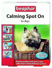 Beaphar Calming Spot on 3 Week Calms Soothes Fireworks Treatment for Dogs
