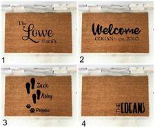 Personalized Coir Door Mat Custom Doormat Fathers Day-Wedding Anniversary Gift