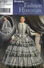 Simplicity 9761 Civil War Day Dress Sewing Pattern Martha McCain Historical