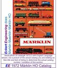 EE 1972 E LN Marklin HO Catalog E USA English Edition LikeNew Condition