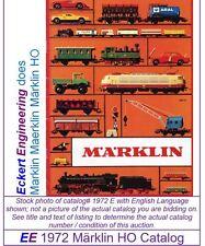 EE 1972 E Marklin HO Catalog E USA English Edition POOR Condition