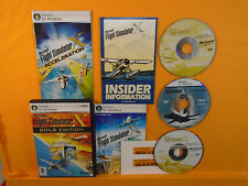 PC MICROSOFT FLIGHT SIMULATOR X Gold Edition Deluxe +Acceleration Windows 7 8 10