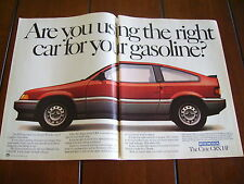 1984 HONDA CIVIC CRX ***ORIGINAL AD***