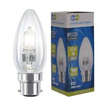 4 x Eco Halogen Candle 42W = 60w Energy Saving Light Bulbs B22 Bayonet Cap