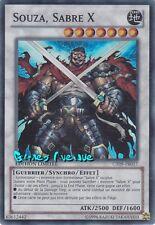 Yu-Gi-Oh ! Carte Souza, Sabre X  (par 2 !!)  CT09-FR017  EXCLU SOUZA !! - Super