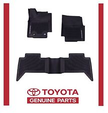 Genuine Toyota Tacoma 2016 2017 Double Cab  All Weather Floor Liners Mats