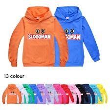 Kids SLOGOMAN HOODY Hoodie Jumper Birthday Present Gift Hooded Sweatshirt Top