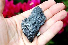 "3.0"" CHARGED Brazilian Black Kyanite Crystal FanBlade Angel Wing EMPOWER Healing"