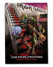 IRON MAIDEN THE FINAL FRONTIER TOUR 2011 POSTER PROGRAM RARE NEW NOS OFFICIAL