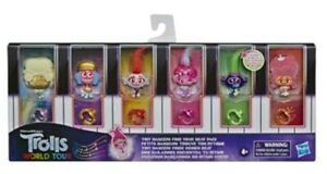 TROLLS WORLD TOUR/ TINY DANCERS FIND YOUR BEAT/ Pack 6 Pieces Set/ Toy Kids' NEW