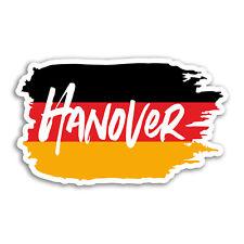 2 x 10cm Hanover Vinyl Stickers - Germany Flag Fun Sticker Laptop Luggage #18272