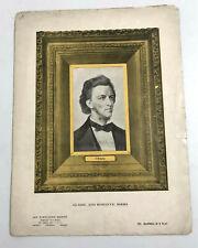 Vintage 1913 Chopin Clásico Romántico Serie Hoja Música Booklet Art Publicación