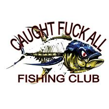 Caught F K All Club Fishing Decal Diecut Vinyl Adhesive Sticker 110x80mm