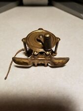 VINTAGE SMALL BRASS FISHING REEL