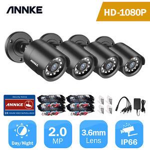 ANNKE 4pcs Bullet 2MP 1080P CCTV Camera Security TVI System Night Vision IP66 UK