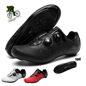 Ultralight Cycling Shoes Outdoor Men SPD Cleats Road Bike Sneakers Peloton Shoes