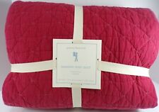 Pottery Barn Kids Garment Dyed Quilt Full Queen Red #4783