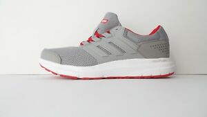 ADIDAS Men's Galaxy 4 Grey Red Running Training Shoes Sneakers Size 8.5