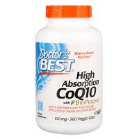 High Absorption CoQ10 with BioPerine, 100 mg, 360 Veggie Caps