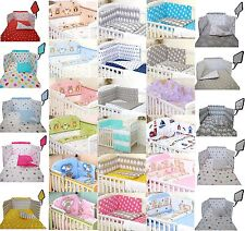 250 VARIATIONS -2/3/5 pcs Baby Bedding Set fit Cot 120x60cm or Cot Bed 140x70