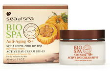 ACTIVE ANTI AGING DAY CREAM SPF-15 FOR DRY EXTRA DRY SKIN DEAD SEA OF BIO SPA