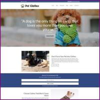 Fully Stocked Dropshipping PET CLOTHES Website Business For Sale + Domain + Host