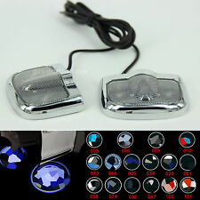 2XNo Drill LED Car Laser Projector Logo Ghost Shadow Door Step LED Light for BMW