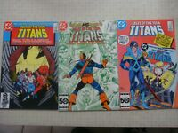 DC Comics Tales of the Teen Titans 53 55 59 Deathstroke Changeling bag & boarded
