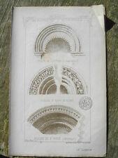 ARCHIVOLTE PORTAIL EGLISE ROMANE MATERIAUX D'ARCHITECTURE A. RAGUENET XIXè