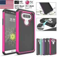 Armor Slim Impact Hybrid Rugged Rubber Hard Case Protective Cover for LG G5 H850