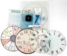 Uhr Bausatz 240 Mm 4x Ziffernblatt 9-14mm Quarzlaufwerk Zeiger komplett 88642r