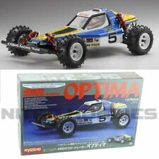 Kyosho 30617B 1/10 escala Optima 4WD OFF ROAD RACER Buggy Kit con cuerpo transparente