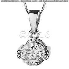 1.61 ct FANCY Off White Yellow Real Moissanite .925 Sterling Silver Pendant K13