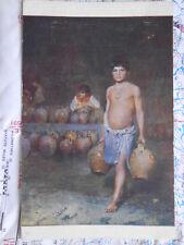 Surfegna Wasser Kinder Kanister Gemälde Kunst Postkarte Ansichtskarte 3294