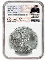 2018 1oz Silver American Eagle NGC MS69 ER Liberty Coin Act White Core