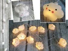 Cute Cloud LED Plastic White Night Light Wall Lamp Baby Kids Bedroom Home Decor