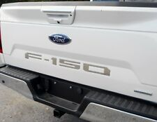 2018 FORD F150 Rear Letters Tailgate Inserts ABS Plastic (Chrome)