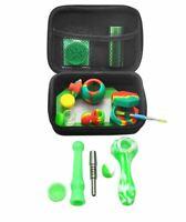 Silicone Smoking Kit Multi-in-one FDA Silicone Storage Tank Aluminum Metal Box P