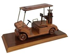 Golf Buggy On A Wooden Plinth Desktop Model.